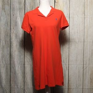 Ralph Lauren Sport Red/Orange T-Shirt Dress Large
